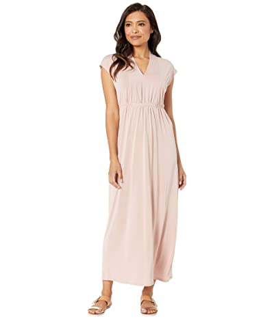 TWO by Vince Camuto Cap Sleeve Washed Jersey Tie Waist Dress (Rose Clay) Women