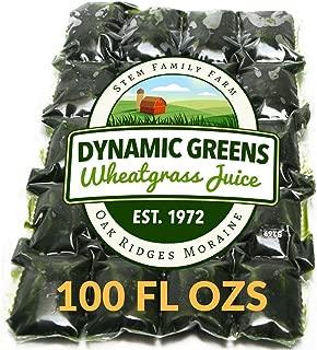 Dynamic Greens Wheatgrass Juice - 100 Fl Ozs - Just $1.89 Per Oz - 100% Wheatgrass Juice - Field Grown - Flash Frozen - Unpasteurized - 200 x 0.5 Fl Oz Portions