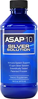 American Biotech Labs - ASAP 10 Silver Solution - Immune System Support, 10 ppm Silver Solution Dietary Sup...