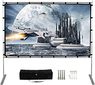 Projector Screen with Stand,120 Inch (16:9) HD 4K Outdoor Indoor Portable Projection Screen Fast Folding Movie Screen with...
