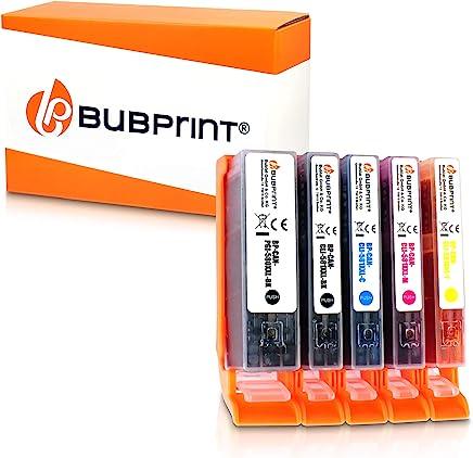 Bubprint 5 Druckerpatronen kompatibel für Canon PGI-580 CLI-581 XXL CLI 581 für Pixma TR8550 TS6150 TS6151 TS8150 TS8151 TS8152 TS9150 TS9155 TR7550