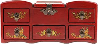 F Fityle Cosmetic Case Jewelry Box Organizer Storage Box Wood Art Collections Gifts