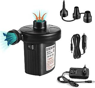 runhua Inflador Eléctrico, 2 in 1 Hinchador Eléctrico para Inflar/Desinflar, Bombas de Aire Eléctrica Portátil con 3 Boquillas, DC12V/AC220V, Inflador Hinchable para Juguete Inflado