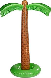 Relaxdays Palmera Hinchable para Fiesta Piscina, Adultos Unisex, Verde/marrón, 155 cm de Altura