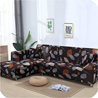 Sofa Cover Stretch for Living Room Sectional Modern Sofa Covers Need 2PCS Washable Home/Hotel L Shaped Couch Cover copridivano,Color 20,2PCS 2 Seater