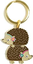 product image for Night Owl Paper Goods Stacked Hedgehogs Keychain, Gold