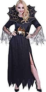 Women's Spider Costume Halloween Witch Vampire Costume Adult Gothic Dress
