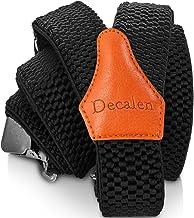 Decalen Mens Suspenders کلیپ های بسیار قوی کلیه های سنگین وزن یک اندازه متناسب با شکل Y است