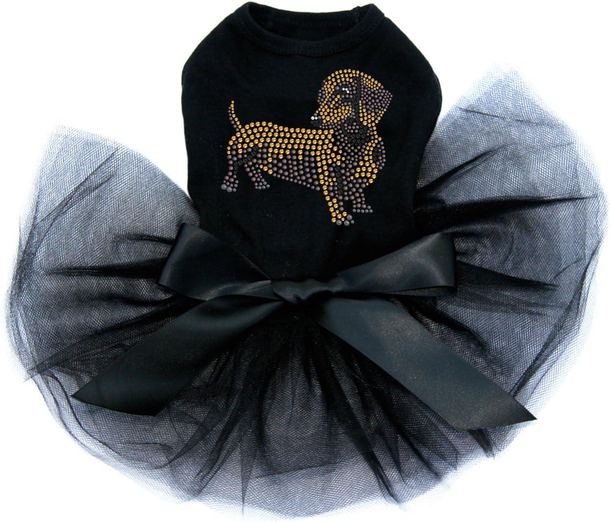 Dachshund # 2 price Bling Rhinestone Dress Tutu Black 4XL Dog shop