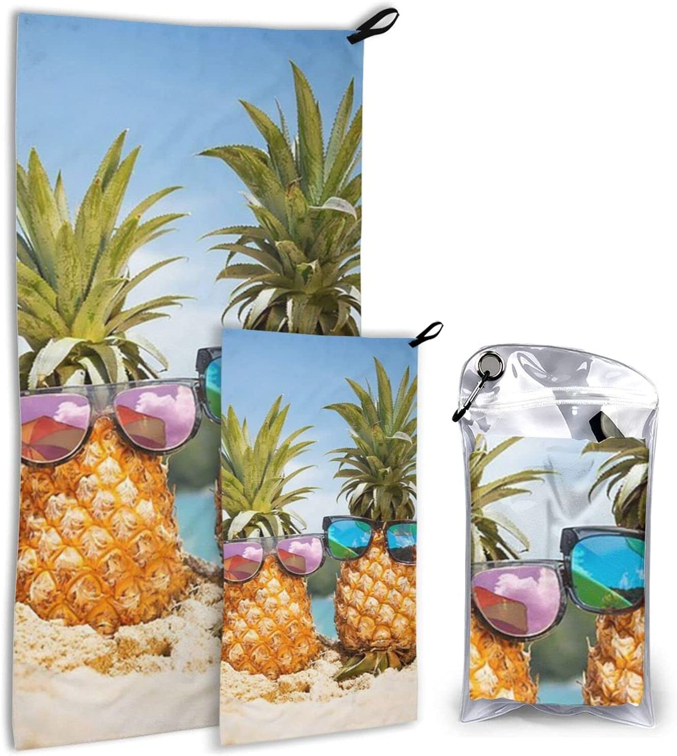Beach Tropical low-pricing Pineapple Microfiber Towels - 2 Pack Quick Dry Branded goods