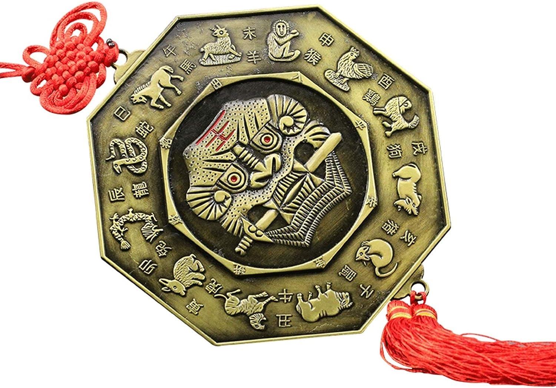 Feng Shui Manufacturer regenerated product famous Mirror Bagua Metallic Zodiac
