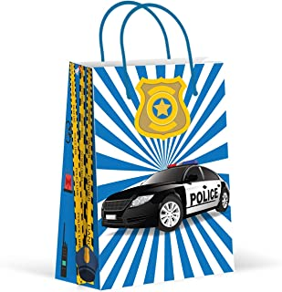 Police Party Bags, Police Car Party Favor Bags, New, Treat Bags, Gift Bags, Goody Bags, Party Favors, Party Supplies, Decorations, 12 Pack