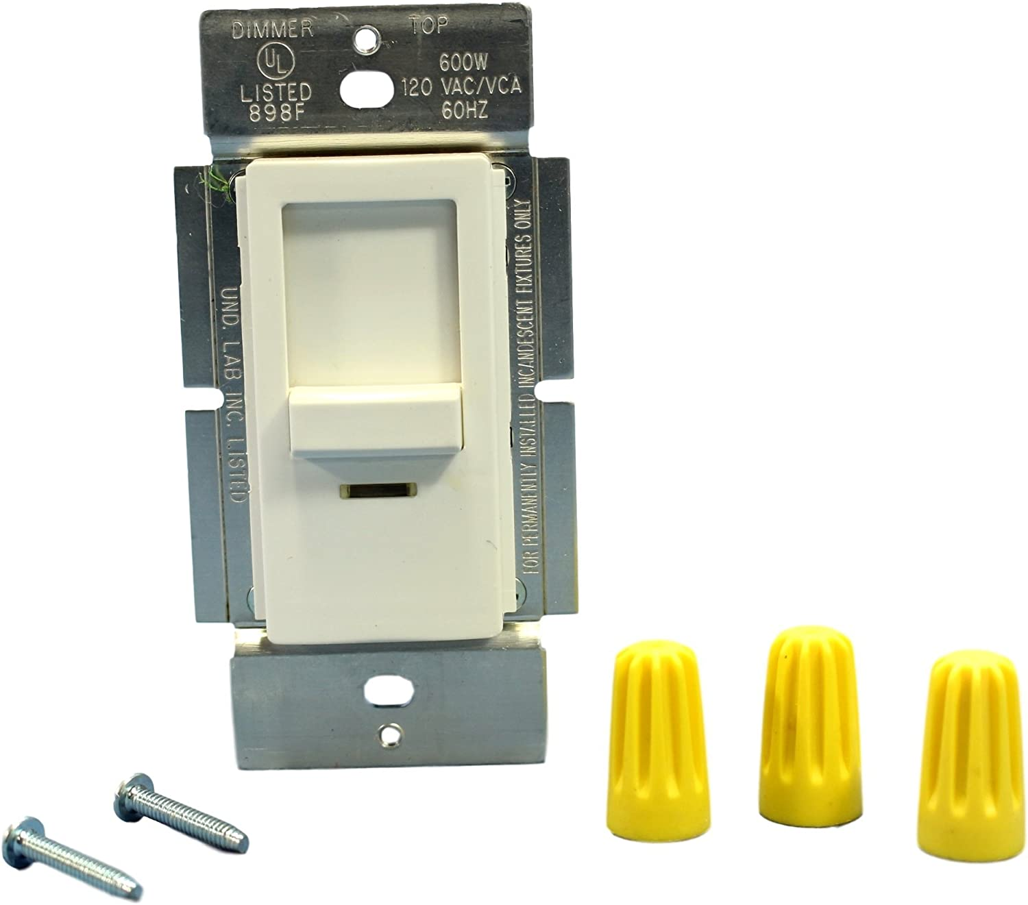 New arrival Leviton INI06-1LW White Decora Commercial Dimmer Slide Lighted Popular shop is the lowest price challenge L