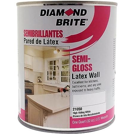 Diamond Brite Paint 21050 1 Quart Semi Gloss Latex Paint High Hiding White