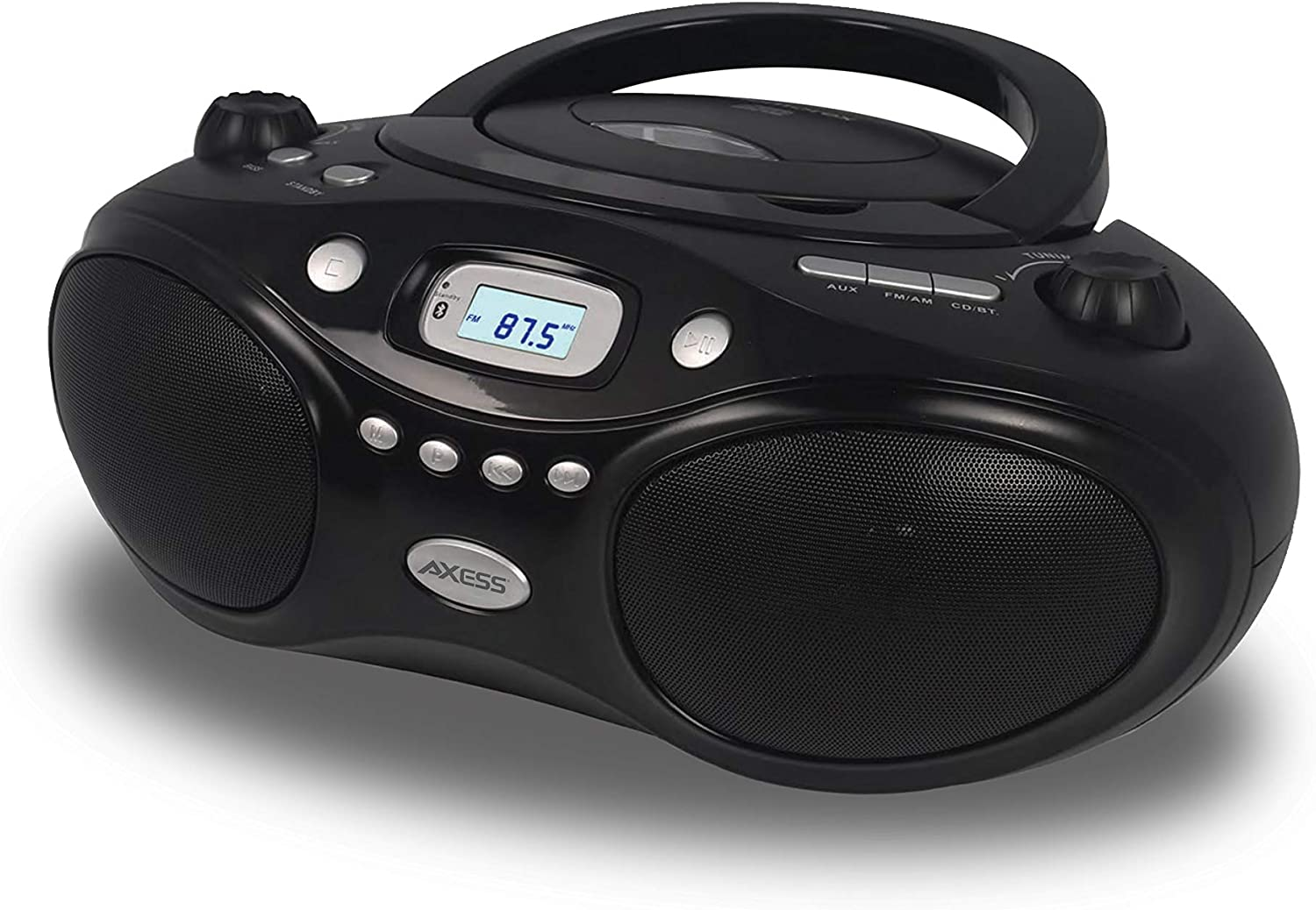 Axess Top-Loading Portable Tulsa Mall Boombox Bluetooth Sale special price Cd Playback Digital