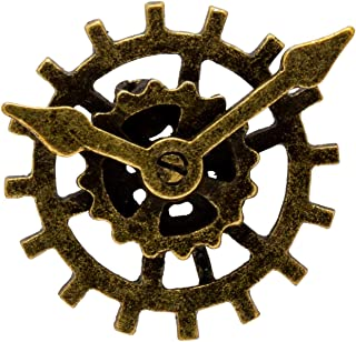 Knighthood Men's Bronze Retro Steampunk Clock Gear Lapel Pin Badge
