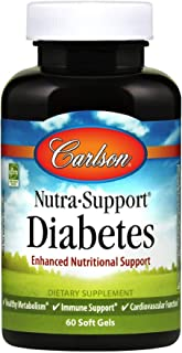 Carlson Labs Nutra-Support Diabetes Multi Nutrients, 60 Softgels