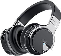 هدفون های لغو سر و صدا Audonia E7 ، هدفون بلوتوث بالای گوش با میکروفن ، صدا با وضوح بالا ، باس عمیق ، فنجان حافظه مموری ، هدفون های بی سیم با 20 ساعت پخش برای مسافرت ، خانه - مشکی