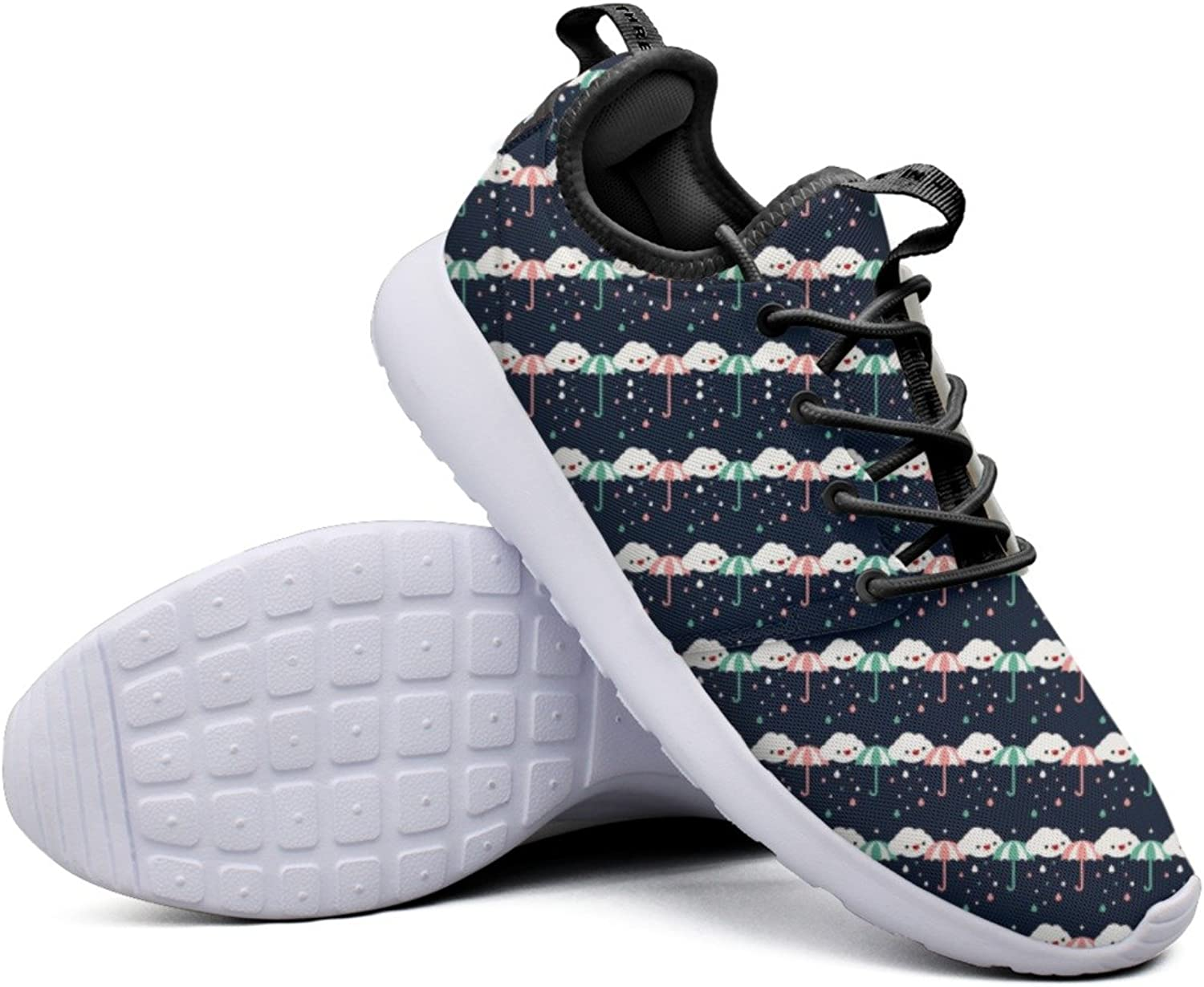 Fashion Sneakers shoes For Women Umbrella Stripe Rainy Day Rain Clouds Rendy Lightweight Breathable Mesh Womens Basketball Sneakers