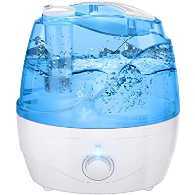 iHomist Cool Mist Humidifier, 2.2L Humidifiers with Blue Night Light