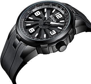 Mens Watch Fashion Quartz Analog Watch Black Wrist Watch for Men Casual Waterproof