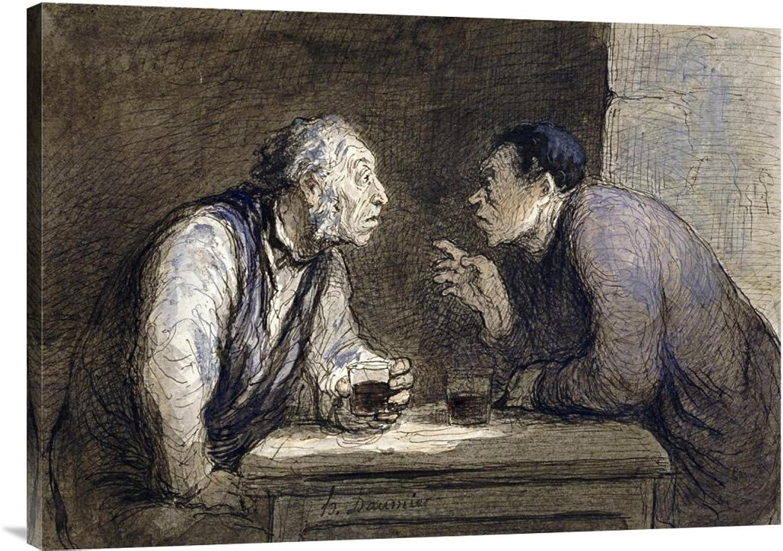 Global Galerie Budget gcs-264776–91,4–360,7 cm cm cm Honore Daumier Zwei Tränken Galerie Wrap Giclée-Kunstdruck auf Leinwand Art Wand B01K1OVEIG | Heißer Verkauf  fd5b52