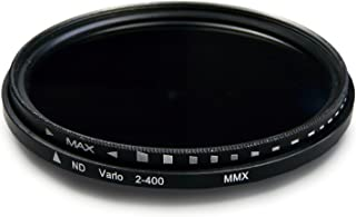 58mm Variable ND Filtro ND2 - ND400 densidad neutral ajustable para Nikon Df - Canon EOS 1DX | 5D Mark II + III | 5D | 6D | 7D | 10D | 30D | 40D | 50D | 60D | 70D | 1000D - Samsung NX | NX10 | NX11
