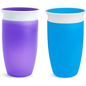 Munchkin Miracle 360 Sippy Cup, Blue/Purple, 10 Oz, 2 Count