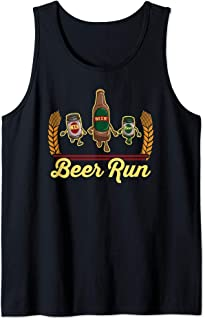 Funny Beer Running Gift Shirt BEER RUN Tank Top