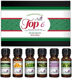 Top 6 Essential Oils Gift Set for Diffuser - #1 Voted Christmas Gifts for Mom, Wife, Women, Grandma, Her for Aromatherapy by Aviano Botanicalsm