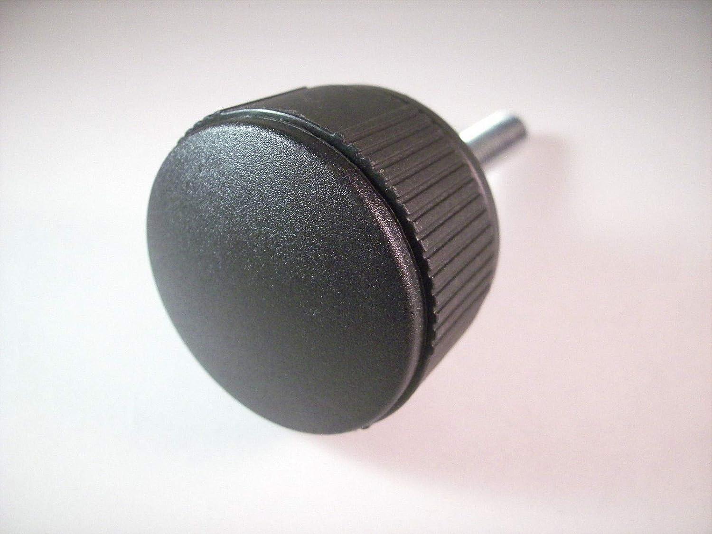 Griff 40mm, M6 x 40mm Kunststoff//Stahl 1 Stellschraube R/ändelschraube Handrad mit Gewindebolzen Schwarz