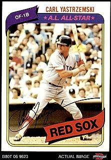 1980 Topps # 720 Carl Yastrzemski Boston Red Sox (Baseball Card) Dean's Cards 8 - NM/MT Red Sox