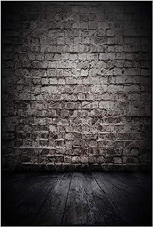AIIKES 5x7FT Black Wooden Photo Backdrop Vinyl Wood Photography Backdrop Brick Wall Background Custom Birthday Party Photographic Photo Studio 10 391