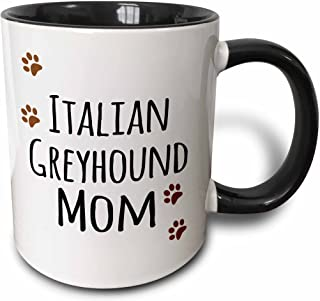 3dRose 154140_4 Italian Greyhound Dog Mom - brown paw prints love doggy lover proud pet owner mama