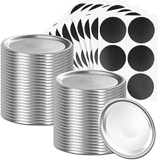 48 Pieces Canning Lids Regular Mouth 70mm Split-Type Mason Jar Lids for Canning Leak Proof Storage Canning Jar Caps Cannin...