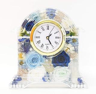 Lulu's ルルズ ハーバリウム 花時計 Flower clock ライトブルー プリザーブドフラワー ドライフラワー サイズ:14×13×4cm ライトブルー Lulu's-1192