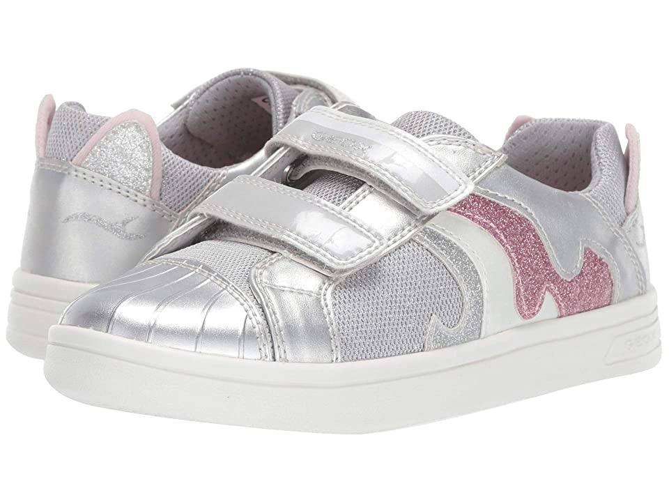 Geox Kids Djrock Girl 20 (Little Kid/Big Kid) (Silver) Girl