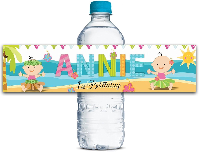 Personalisierte Wasserflasche Etiketten Wasserdicht Mädchen Geburtstagsparty Babydusche, Selbstklebend Aufkleber 8  X 2  Zoll - 50 Etiketten B01G5957CU  | Bevorzugtes Material
