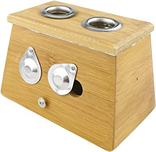 Winterworm Bamboo Two Hole Healing Box for Moxa Moxibustion Medicine Therapy