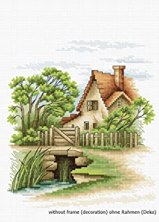 Luca-S Summer Landscape Counted Cross Stitch Kit, Multi-Colour