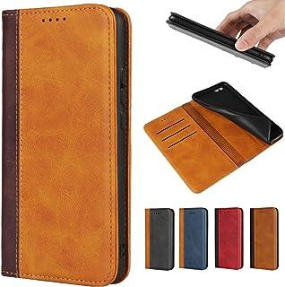 手帳型ケースOneplus 7T Proスマホ携帯カバー財布型カバーOneplus 7T ProJaorty 2色革内蔵マグネット 高質合成皮革 財布型 カード収納 耐衝撃 スタンド機能 人気 4色-ライトブラウン