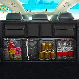 TOHUU Car Boot Organizer, Car Back Seat Black Storage Bag Trunk Organizer with Washable Oxford for SUV Truck Van, Foldable Car Boot Tidy Organizer