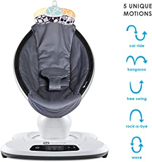 4moms mamaRoo 4 Baby Swing, high-tech Baby Rocker, Bluetooth Enabled – Cool mesh Fabric with 5 Unique motions