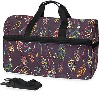 MONTOJ lila Traumfänger-Reisetasche aus Segeltuch, Übergröße, Reisetasche