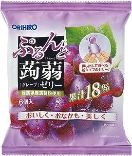 Orihiro Puru Do and Konnyaku Jelly Series (Grape), 6 pc, 1 Bag