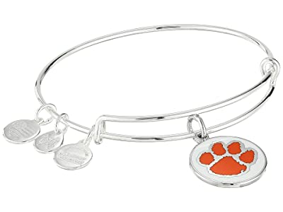 Alex and Ani Color Infusion Clemson University Logo II Bangle (Shiny Silver) Bracelet