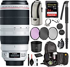 $1799 » Canon EF 100-400mm f/4.5-5.6L is II USM Lens USA (9524B002) with Professional Bundle Package Deal Kit for Canon EOS Includes: DSLR Sling Backpack, 9PC Filter Kit, Sandisk 64GB Extreme SD Card + More