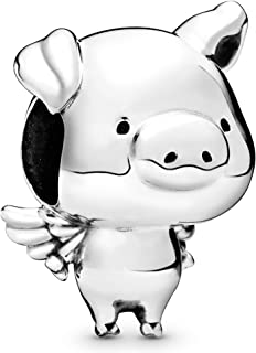PANDORA Pippo the Flying Pig 925 Sterling Silver Charm - 798253