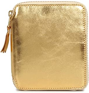COMME des GARCONS GOLD AND SILVER WALLET コムデギャルソン 財布 二つ折り ラウンドファスナー 本革 ゴールド SA2100G [並行輸入品]