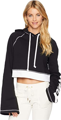 Track Fleece Cropped Pullover